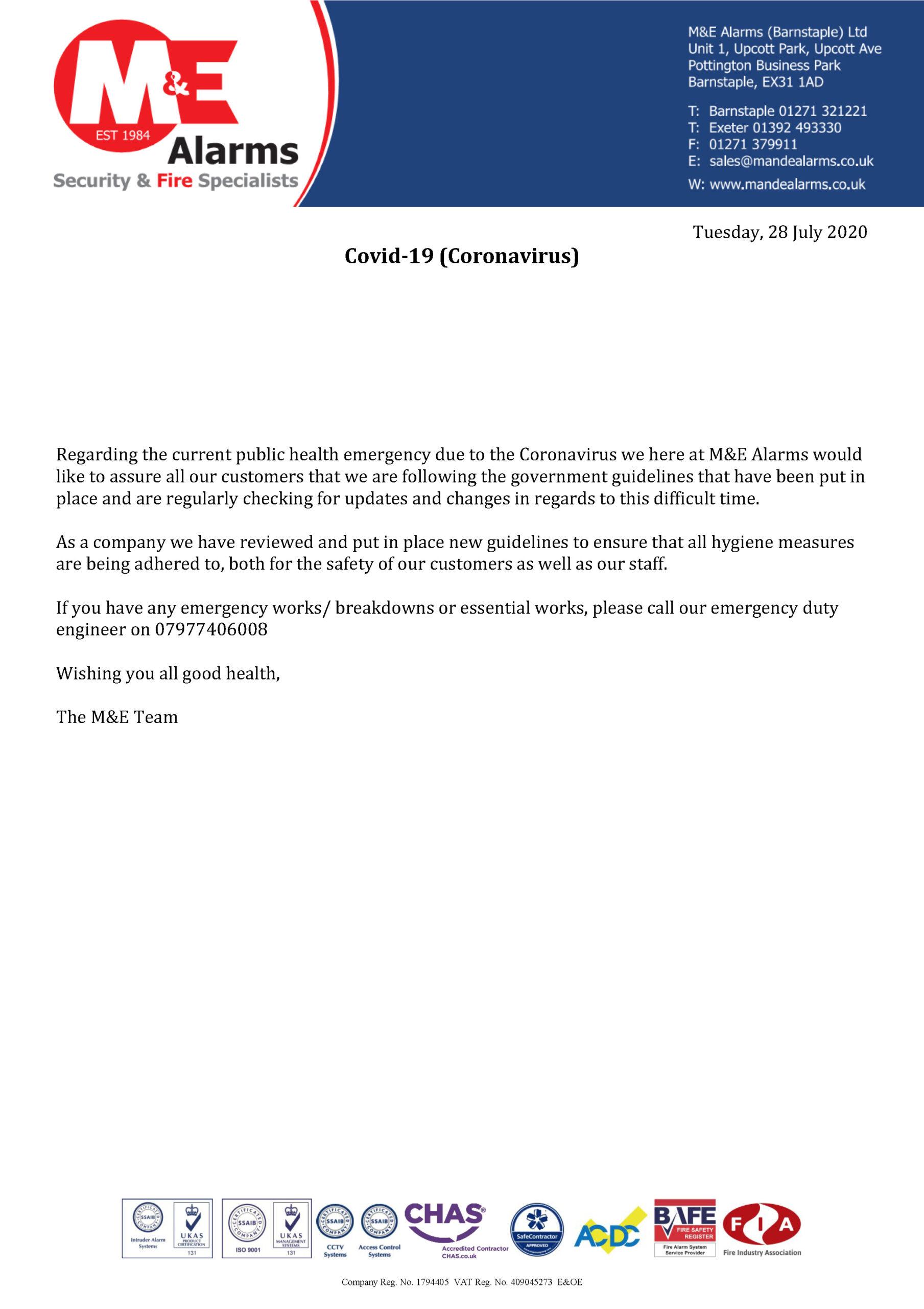 Coronavirus Statement (3)